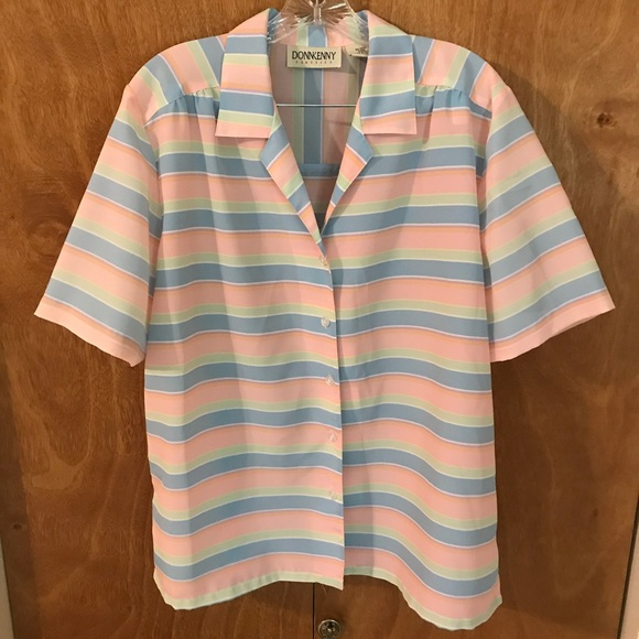 36cccf15576707 DonnKenny Tops | Classics Button Up Blouse Size Xl | Poshmark